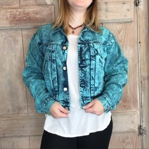 Vintage 90s Grunge Acid Wash Denim Jacket